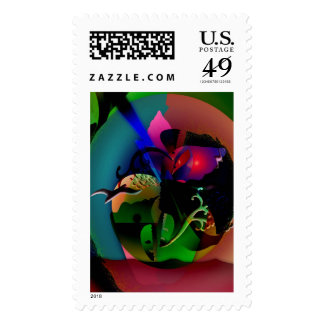 Abstraction In Nature Postage Stamps
