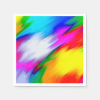 Abstraction Multi  Color Bright Texture Paper Napkin