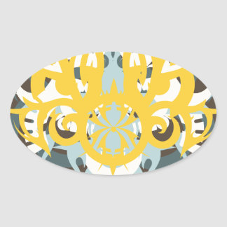 Abstraction Nine Imperious Oval Sticker