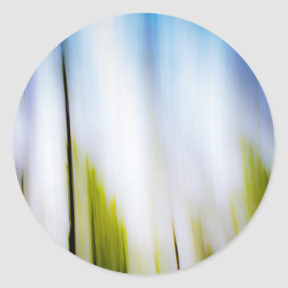 Abstraction Of Blur Classic Round Sticker