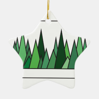 Abstraction of Green Grass Ceramic Ornament