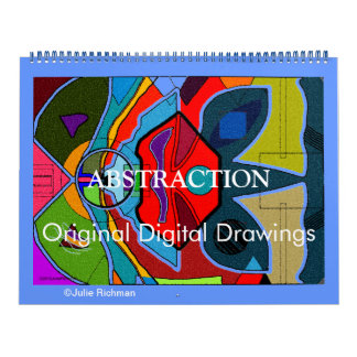 ABSTRACTION Original digital Drawings calendar