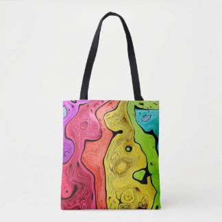 Abstraction Pattern Contour Style Bright And Color Tote Bag