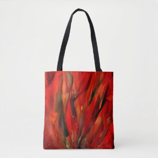 Abstraction Red Flame Art Tote Bag