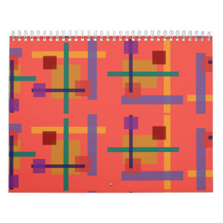 Abstractionist salmon wall calendars