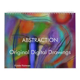 ABSTRACTIONS digital drawing calendar