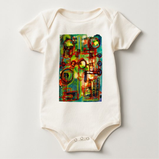 Abstractions one baby bodysuit