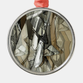 Abstractly 1 metal ornament