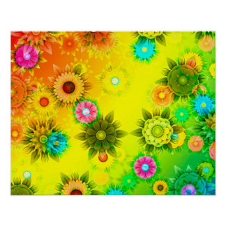 Abstractly Art, Bright & Colorful Poster