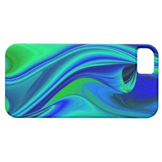abstractly en green blue purple