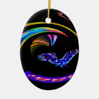 Abstractly in perfection ceramic ornament