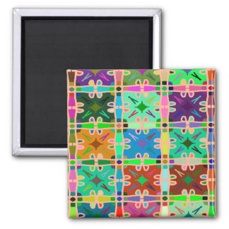 Abstractly Multi Color Art Pattern Magnet