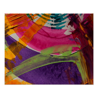 Abstractly Multi Color Art Poster