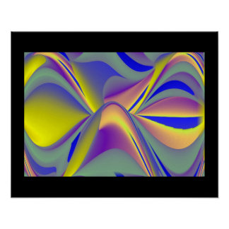 abstractly rainbow eyes poster