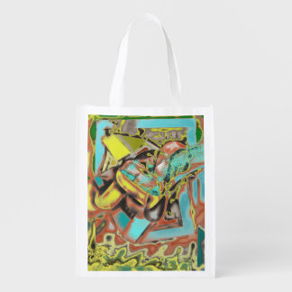 Abstractly Speaking Abstract Design Grocery Bag