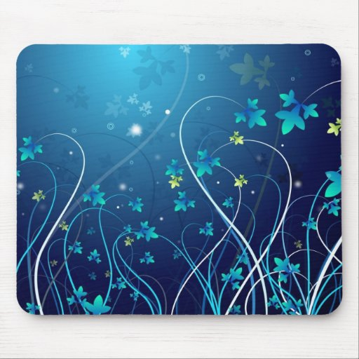 Abstracto azul mouse pad