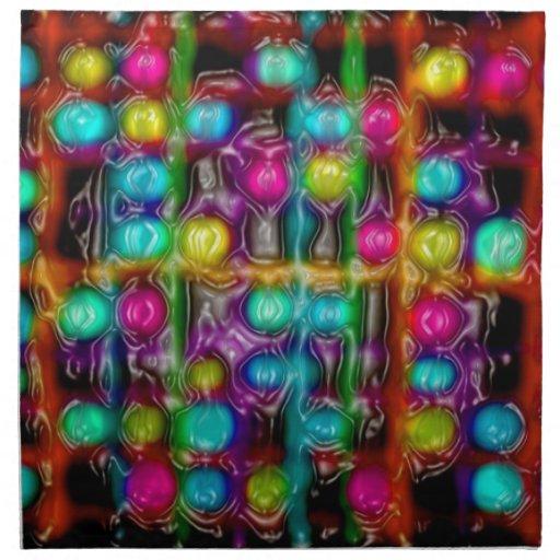 abstracto-pinturas servilleta imprimida
