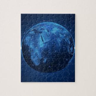 Abstracto refresque los trabajos globales puzzles