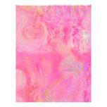 Abstracto rosado bonito/múltiplo del patio de los  membrete personalizado