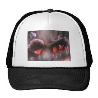 AbstractRedandGrey Trucker Hat