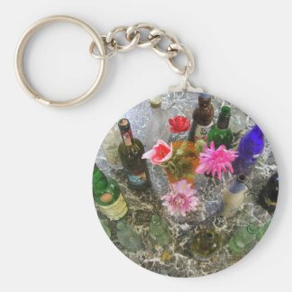 ABSTRACTS FLORALS WINE BOTTLES KEYCHAIN
