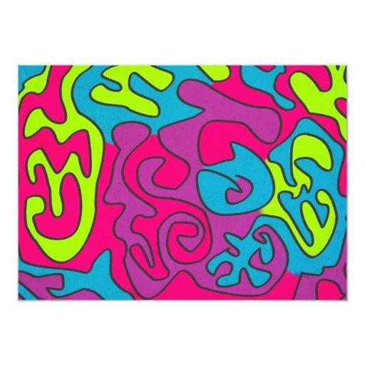 "abstractwztexture invitación 5"" x 7"""