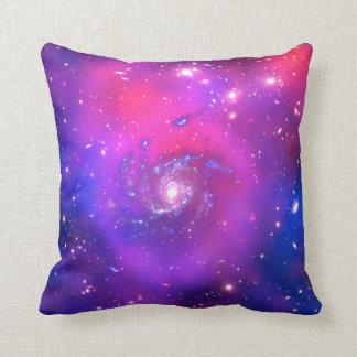 Abstrakt dreaming art universe swirl color purple throw pillow