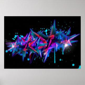 Abstrakt Graffiti Poster