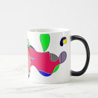 Abstrakt 11 Oz Magic Heat Color-Changing Coffee Mug