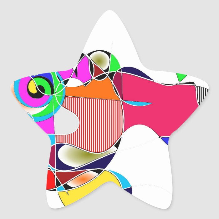 Abstrakt Star Sticker