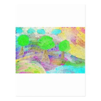 Abstrakt Trees Postcard