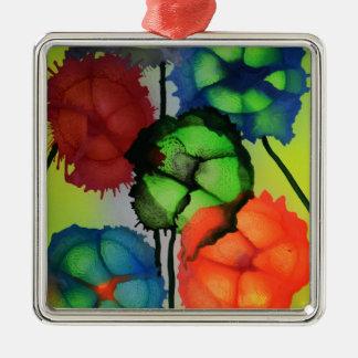 Abstrakte segmentert blomster i blomst metal ornament