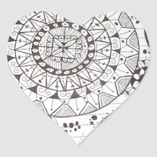 abstrato com formas geometricas heart sticker
