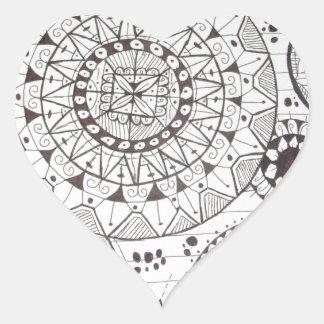 abstrato com formas geometricas heart sticker