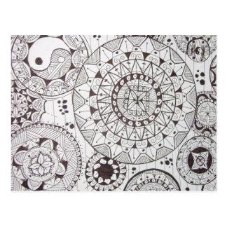 abstrato com formas geometricas postcard