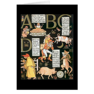 Absurd  ABCD Greeting Card
