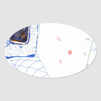 Absurd Numbers Oval Sticker