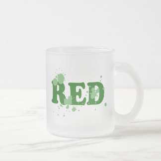 Absurd Red Frosted Glass Coffee Mug