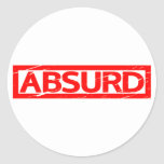 Absurd Stamp Classic Round Sticker