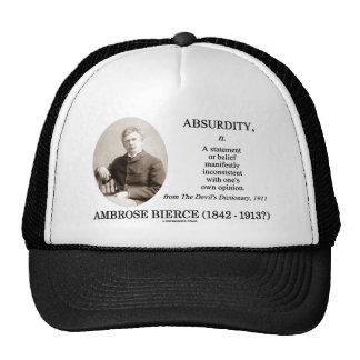 Absurdity Bierce The Devil s Dictionary Definition Hats