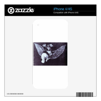 Absurdity Flying by Francisco Goya Decal For The iPhone 4S