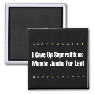 Absurdo supersticioso imán cuadrado