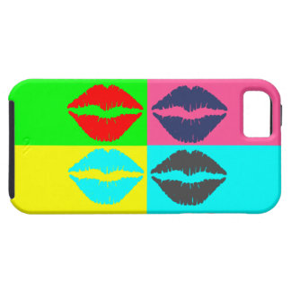 Abtract Art Colorful Lips iPhone SE/5/5s Case