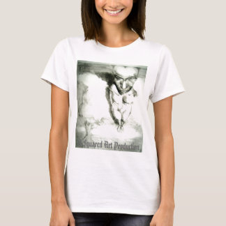 abtract drawing of female fiure upside down. T-Shirt