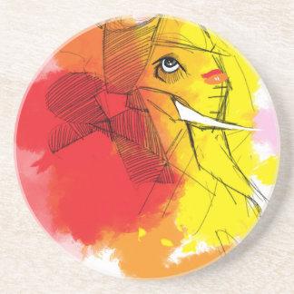 abtract Ganesha Paintings Coaster