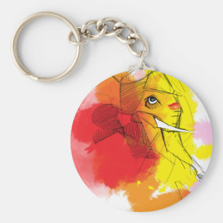 abtract Ganesha Paintings Keychain