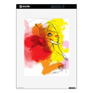abtract Ganesha Paintings Skin For The iPad