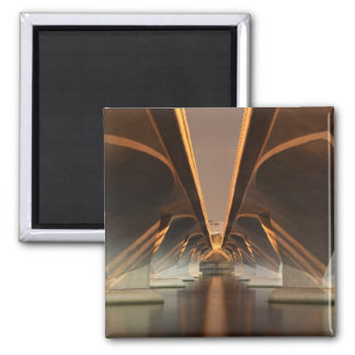 Abtract Pattern 2 Inch Square Magnet