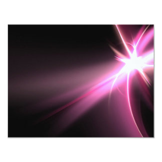 Abtract Pink Energy Fractal Card