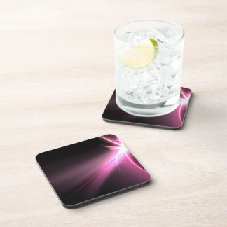 Abtract Pink Energy Fractal Coaster
